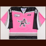 2007-08 Steve Covington Phoenix Roadrunners Game Worn Jersey - Pink in the Rink