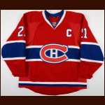 2013-14 Brian Gionta Montreal Canadiens Game Worn Jersey - Photo Match – Team Letter