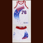 1993-1994 Shawn Bradley Philadelphia 76ers Game Worn Jersey & Shorts - Rookie - Team Letter