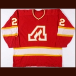 1972-73 Noel Picard Atlanta Flames Game Worn Jersey - Inaugural Season - One Year Style