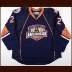 2012-13 Taylor Hall Oklahoma City Barons Game Worn Jersey - Photo Match – Team Letter