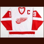 1988-89 Steve Yzerman Detroit Red Wings Game Worn Jersey - Career Best 65-Goal, 90-Assist & 155-Point Season - Photo Match