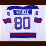 "1980 Team USA ""Miracle on Ice"" Autographed Replica Jersey - JSA"