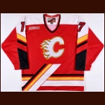 1999-00 Chris Clark Calgary Flames Game Worn Jersey – Rookie