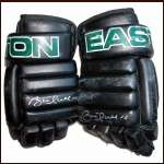 Brett Hull Stars Game Worn Gloves - Autographed