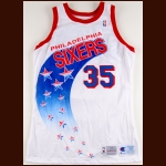 1993-1994 Clarence Weatherspoon Philadelphia 76ers Game Worn Jersey - Team Letter