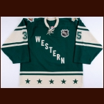 "2004 Marty Turco NHL All Star Game Worn Jersey – ""Minnesota 2004 All Star"" - Photo Match"