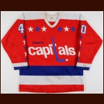 1981-82 Tony Cassolato Washington Capitals Game Worn Jersey