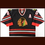 1998-99 Mark Janssens Chicago Blackhawks Game Worn Jersey – Alternate