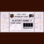 1974-75 Philadelphia Flyers Playoff Ticket Stub - Stanley Cup Season