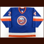 1989-90 Ken Baumgartner New York Islanders Game Worn Jersey – Photo Match – The Terrence Murphy Collection – Joe Murphy Letter