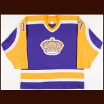 1987-88 Jimmy Carson Los Angeles Kings Game Worn Jersey - Photo Match