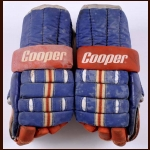 Mike Bossy New York Islanders Game Worn Gloves  - 1980-81 - 1st Team NHL All Star - League-Leading 68-Goal Season - Stanley Cup Season - 50 Goals in 50 Games Season - Photo Match