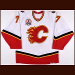 "2003-04 Chuck Kobasew Calgary Flames Stanley Cup Finals Game Worn Jersey – ""2004 Stanley Cup Finals"" - Team Letter"