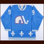 1979-80 Real Cloutier Quebec Nordiques Game Worn Jersey - Inaugural NHL Season - All Star Season - Photo Match