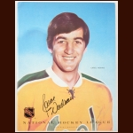 Carol Vadnais Single Signed November 7, 1971 California Golden Seals Full Program - Deceased