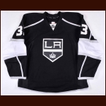 2012-13 Willie Mitchell Los Angeles Kings Game Issued Jersey – Team Letter