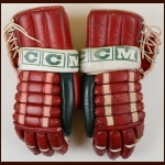 Joel Quenneville New Jersey Devils Red CCM Game Worn Gloves – Devils Inaugural Season