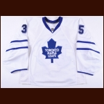 2009-10 Vesa Toskala Toronto Maple Leafs Game Worn Jersey - Photo Match