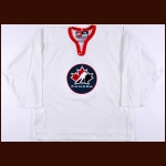"2002 Al Macinnis Team Canada Olympics Training Camp Worn Jersey - ""Respect"""