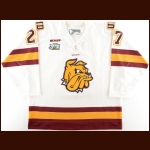"2010-11 David Grun University of Minnesota-Duluth Game Worn Jersey – ""2011 Frozen Four"" - 1st UMD National Championship - Photo Match"