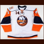 2009-10 Trevor Gillies New York Islanders Game Worn Jersey – Rookie - Photo Match – Team Letter