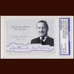 Hartland Molson Autographed Card - The Broderick Collection - Deceased