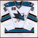 2009-10 Ryane Clowe San Jose Sharks Game Worn Jersey - Photo Match