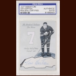 Tim Horton Autographed Card - The Broderick Collection - Deceased