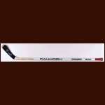 Denis Savard Chicago Blackhawks White Canadien Game Used Stick – Autographed