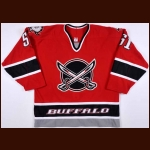 2003-04 Brian Campbell Buffalo Sabres Game Worn Jersey – Alternate – Team Letter