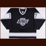 1993-94 Jari Kurri Los Angeles Kings Game Worn Jersey - Photo Match
