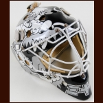 Jamie Storr Los Angeles Kings Game Worn Rookie Mask – Photo Match