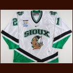 "2007-08 Matt Frattin University of North Dakota Game Worn Jersey – ""2008 Denver Frozen Four"" – ""University of North Dakota 125-year Anniversary"" - Photo Match – Team Letter"