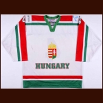 2006-07 Andras Horvath Team Hungary World Championships Game Worn Jersey