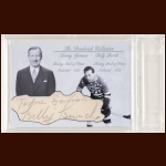 Billy Burch and Tommy Gorman Autographed Card - The Broderick Collection - Deceased