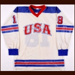 1977 Dave Gandini Team USA World Junior Championships & 1979-80 US Olympic Team Game Worn Jersey