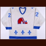 Late 1980's Jeff Brown Quebec Nordiques Game Worn Jersey