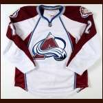 2010-11 Kevin Porter Colorado Avalanche Game Worn Jersey - Team Letter