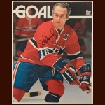 Henri Richard Montreal Canadiens 8½ x 11 Color Autographed Goal Magazine Cover – Deceased