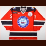 "2000 Randy McKay World All Stars Game Worn Jersey – ""K-141"" - Fetisov's Farewell Game"