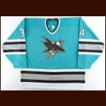 1990's Taras Lendzyk San Jose Sharks Pre-Season Game Worn Jersey