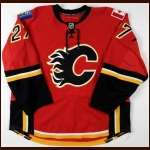 2008-09 Andre Roy Calgary Flames Game Worn Jersey - Team Letter