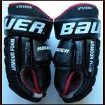 Scott Stevens New Jersey Devils Bauer Game Worn Gloves - Team Letter