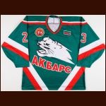 2003-04 Denis Platonov Ak Bars Kazan Game Worn Jersey