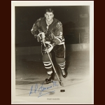 Gilles Marotte Chicago Blackhawks 8x10 B&W Autographed Photo – Deceased