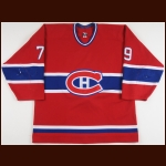 2001-02 Andrei Markov Montreal Canadiens Game Worn Jersey - Photo Match