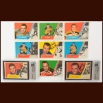 1963-64 Topps Autographed Card Group of (24) – Includes Hall of Famers and Deceased