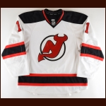 2011-12 Brad Mills New Jersey Devils Game Worn Jersey – Rookie - Photo Match – Team Letter