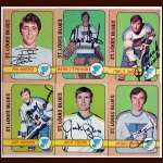 1972-73 Autographed St. Louis Blues Card Group of 6
